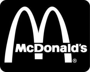 Fekete Mc Donalds logó 300x241